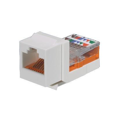 PANDUIT - NK5E88MEIY - Conector Jack Estilo Leadframe Tipo Keystone Categoría 5e de 8 posiciones y 8 cables Color Marfil