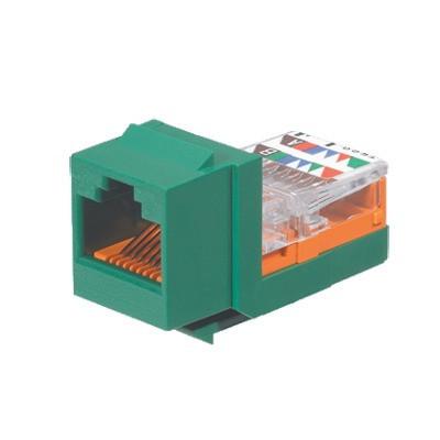 PANDUIT - NK5E88MGRY - Conector Jack Estilo Leadframe Tipo Keystone Categoría 5e de 8 posiciones y 8 cables Color Verde