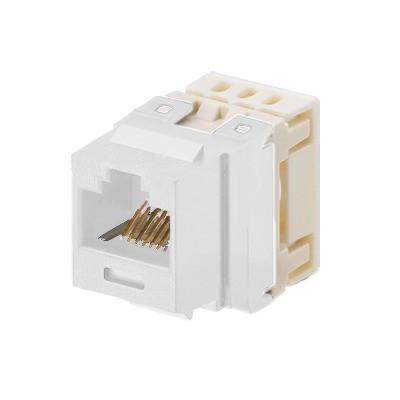 PANDUIT - NKP5E88MWH - Conector Jack Estilo 110 (de Impacto) Tipo Keystone Categoría 5e de 8 posiciones y 8 cables Color Blanco