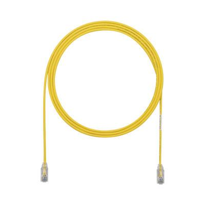 PANDUIT - UTP28SP5YL - Cable de Parcheo TX6 UTP Cat6 Diámetro Reducido (28AWG) Color Amarillo 5ft