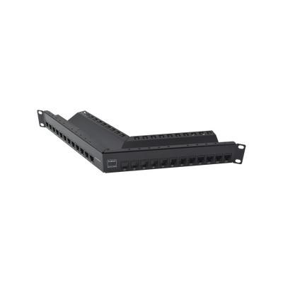 SIEMON - Z6AS-PNLA-24K - Patch Panel Z-MAX Categoria 6A Blindado de 24 puertos Angulado 1UR