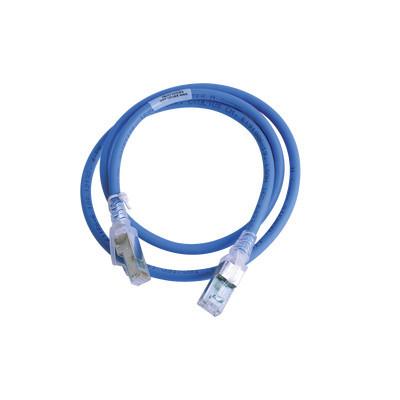 SIEMON - ZM6A-S03-06B - Patch Cord Z-MAX Cat6A S/FTP CM/LS0H 3ft Color Azul Versión Bulk (Sin Empaque Individual)