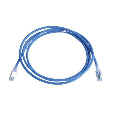 SIEMON - ZM6A-S07-06B - Patch Cord Z-MAX Cat6A S/FTP CM/LS0H 7ft Color Azul Versión Bulk (Sin Empaque Individual)