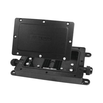 TEMPO - DFE100 - Cierre de Empalme Interior/Exterior para 12 fusiones IP68 2 puertos en línea