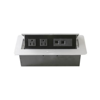 THORSMAN - TH-MC-CE - Caja horizontal de escritorio con conector RJ45 Cat5e RJ11 2 contactos de 125v (11000-73201)