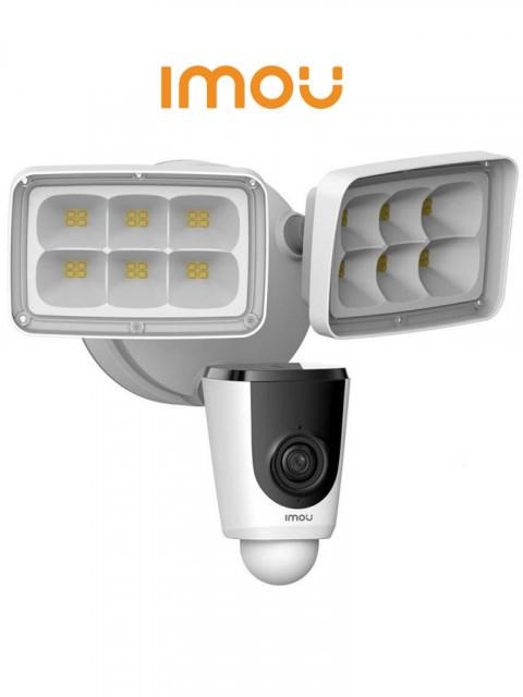 DAHUA - DHT0150008 - IMOU FLOODLIGHT - Cámara IP de 2 Megapixeles/ Reflectores incorporados/ Disuasión Activa/ PIR/ IP65/ Wifi/ Ranura Micro SD/ Audio/ #10+1