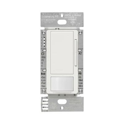 LUTRON ELECTRONICS - MSZ101WH - Apagado y sensor de movimiento recomendable para baños oficinas privadas etc. 2AMP