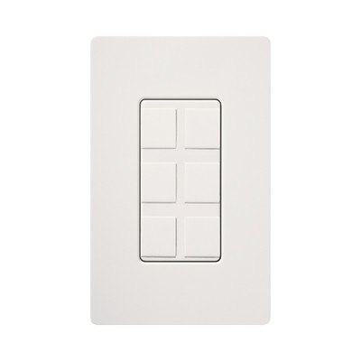 LUTRON ELECTRONICS - SC6PFSW - Caja de pared para contactos varios 6 mini espacios.