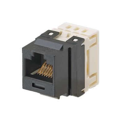 PANDUIT - NK688MBL - Conector Jack Estilo 110 (de Impacto) Tipo Keystone Categoría 6 de 8 posiciones y 8 cables Color Negro