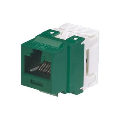 PANDUIT - NK688MGR - Conector Jack Estilo 110 (de Impacto) Tipo Keystone Categoría 6 de 8 posiciones y 8 cables Color Verde