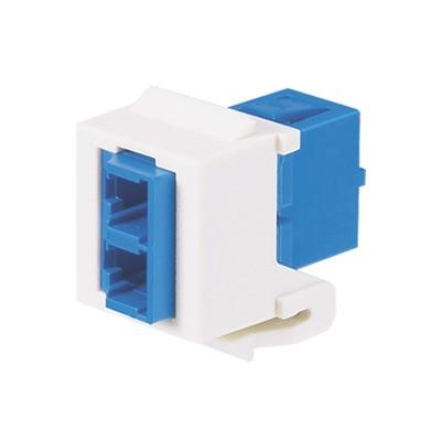 PANDUIT - NKDLCMZIW - Módulo Acoplador LC Duplex para Fibra Óptica Monomodo OS1/OS2 Tipo Keystone Color Blanco Mate