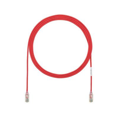 PANDUIT - UTP28SP33RD - Cable de Parcheo TX6 UTP Cat6 Diámetro Reducido (28AWG) Color Rojo 33ft