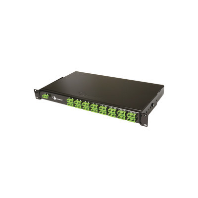 SIEMON - FSR-132LCALCA01 - Splitter PON tipo panel de 1X32 con conectores LCA de entrada y LCA de salida 1UR Color Negro
