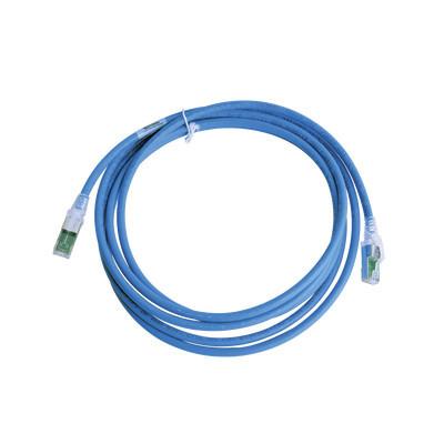 SIEMON - ZM6A-S10-06B - Patch Cord Z-MAX Cat6A S/FTP CM/LS0H 10ft Color Azul Versión Bulk (Sin Empaque Individual)