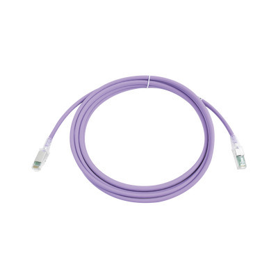 SIEMON - ZM6A-S10-08B - Patch Cord Z-MAX Cat6A S/FTP CM/LS0H 10ft Color Violeta Versión Bulk