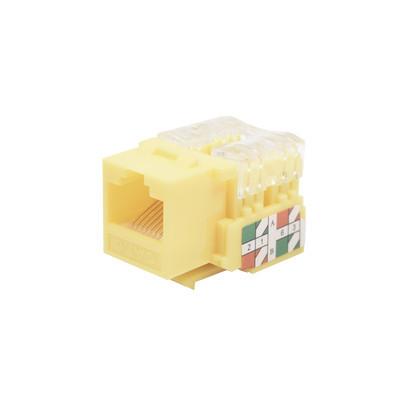 LINKEDPRO - LP-KJ-601-YE - Módulo Jack Keystone Cat6 con terminación 110 (Punchdown) para faceplate - Color Amarillo