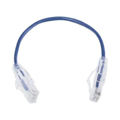 LINKEDPRO - LP-UT6-020-BU28 - Cable de Parcheo Slim UTP Cat6 - 20 cm Azul Diámetro Reducido (28 AWG)