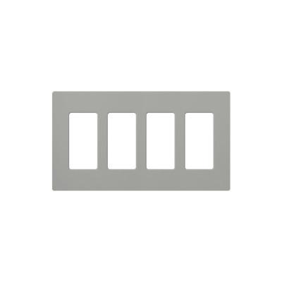 LUTRON ELECTRONICS - CW4-GR - PLACA DE PARED COLOR GRIS 4 ESPACIOS