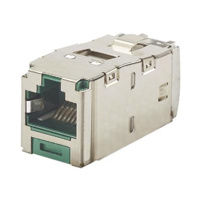 PANDUIT - CJS6X88TGGRY - Conector Jack RJ45 Blindado Estilo TG Mini-Com Categoría 6A de 8 posiciones y 8 cables Color Verde