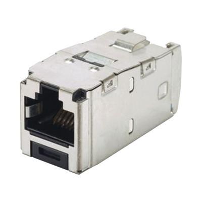 PANDUIT - CJS6X88TGY - Conector Jack RJ45 Blindado Estilo TG Mini-Com Categoría 6A de 8 posiciones y 8 cables Color Negro