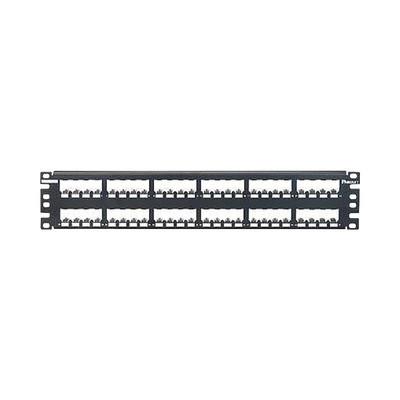 PANDUIT - CP48BLY - Panel de Parcheo Modular Mini-Com (Sin Conectores) Plano Totalmente Blindado de 48 puertos 2UR