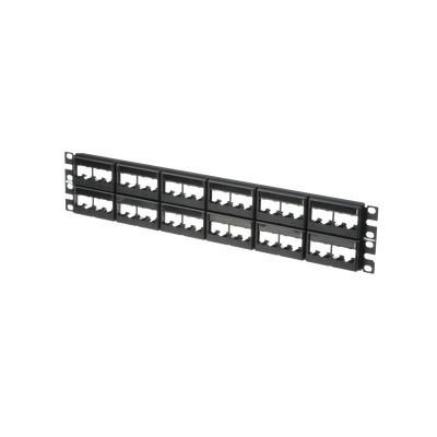 PANDUIT - CPPL48WBLY - Panel de Parcheo Modular Mini-Com (Sin Conectores) Plano Sin Blindaje Con Etiqueta y Cubierta de 48 puertos 2UR