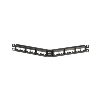 PANDUIT - CPPLA24WBLY - Panel de Parcheo Modular Mini-Com (Sin Conectores) Angulado Sin Blindaje Con Etiqueta y Cubierta de 24 puertos 1UR
