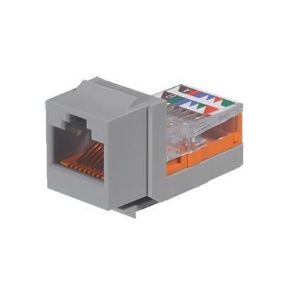 PANDUIT - NK5E88MIGY - Conector Jack Estilo Leadframe Tipo Keystone Categoría 5e de 8 posiciones y 8 cables Color Gris