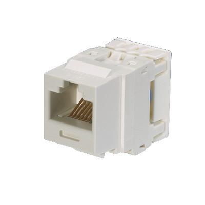 PANDUIT - NK688MWH - Conector Jack Estilo 110 (de Impacto) Tipo Keystone Categoría 6 de 8 posiciones y 8 cables Color Blanco