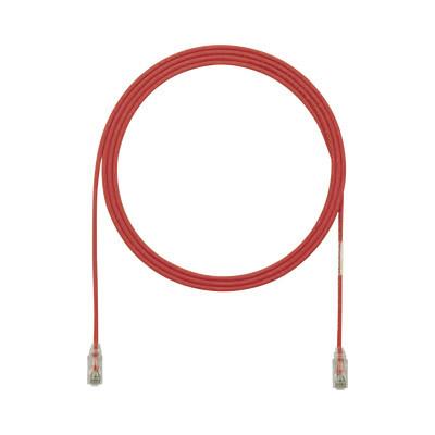 PANDUIT - UTP28SP12RD - Cable de Parcheo TX6 UTP Cat6 Diámetro Reducido (28AWG) Color Rojo 12ft