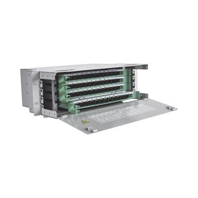 "FIBERHOME - ODU19RP-CSS96-B - Distribuidor de Fibra Óptica para 96 empalmes con 96 acopladores SC/APC y 96 pigtails 19"" 4 UR"