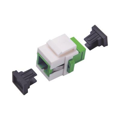 LINKEDPRO - LP-FO-AD-6150 - Acoplador Keystone de fibra óptica Monomodo SC/APC Simplex a SC/APC