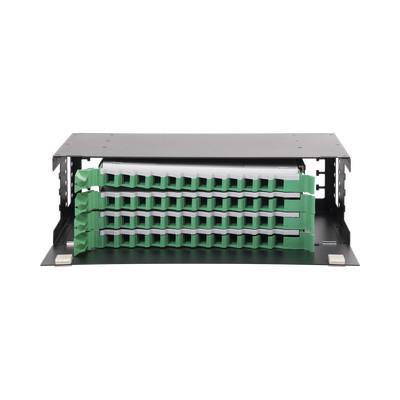 """LINKEDPRO - LP-ODF-8048 - Distribuidor de Fibra Óptica con bandejas deslizables vacío 19in acepta 48 adaptadores """"LC Duplex"""" o """"LC Simplex"""" o 48 """"SC"""" Simplex 3U"""