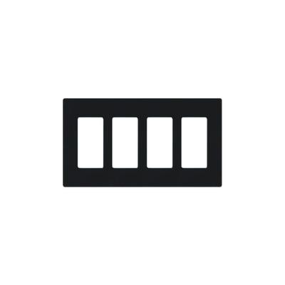 LUTRON ELECTRONICS - CW4-BL - Placa de pared 4 espacio para atenuador (dimmer) switch ó control remoto PICO inalámbrico.