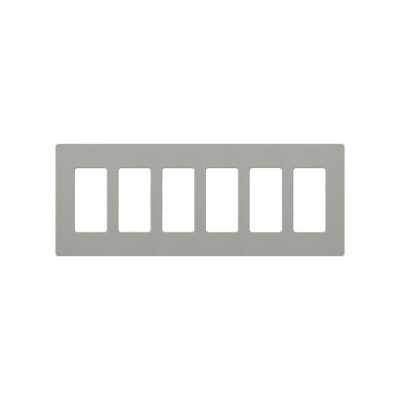 LUTRON ELECTRONICS - CW6-GR - Placa de pared para 6 espacios