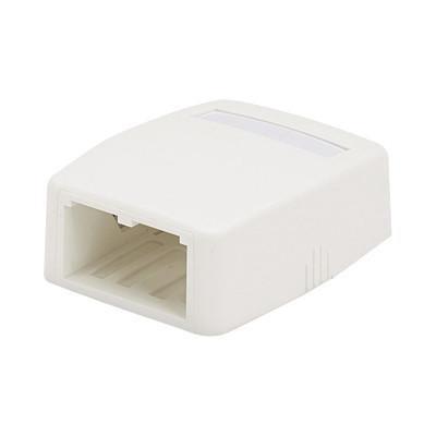 PANDUIT - CBXQ2IW-A - Caja de Montaje en Superficie Para 2 Módulos Mini-Com Color Blanco Mate