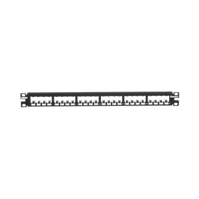 PANDUIT - CP24BLY - Panel de Parcheo Modular Mini-Com (Sin Conectores) Plano Totalmente Blindado de 24 puertos 1UR