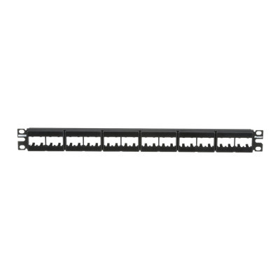 PANDUIT - CPP24WBLY - Panel de Parcheo Modular Mini-Com (Sin Conectores) Plano Sin Blindaje de 24 puertos 1UR