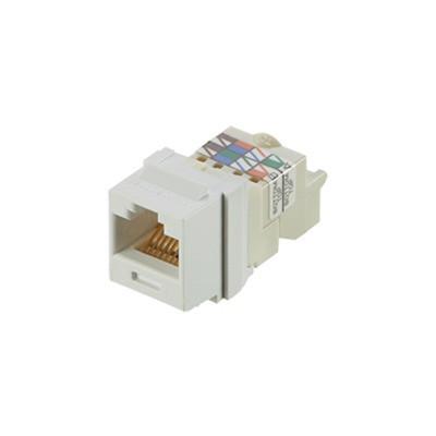 PANDUIT - NK6TMWH - Conector Jack Estilo TP Tipo Keystone Categoría 6 de 8 posiciones y 8 cables Color Blanco