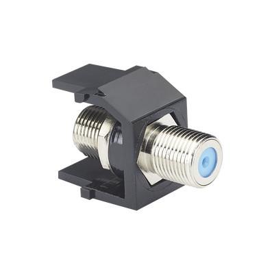 PANDUIT - NKFBL - Módulo Acoplador Coaxial Tipo F Keystone de 75 Ohms 3.0 GHz Color Negro
