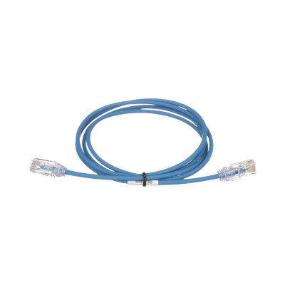 PANDUIT - UTP28SP10BU - Cable de Parcheo TX6 UTP Cat6 Diámetro Reducido (28AWG) Color Azul 10ft