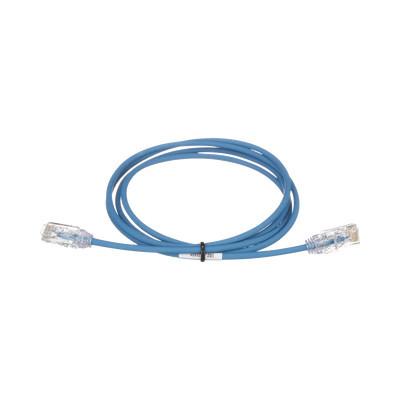 PANDUIT - UTP28SP12BU - Cable de Parcheo TX6 UTP Cat6 Diámetro Reducido (28AWG) Color Azul 12ft