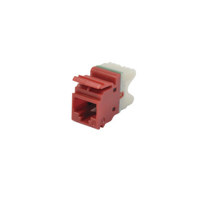 SIEMON - MX6-F03 - Jack MAX UTP Categoría 6 Estilo 110 Montaje Plano Color Rojo