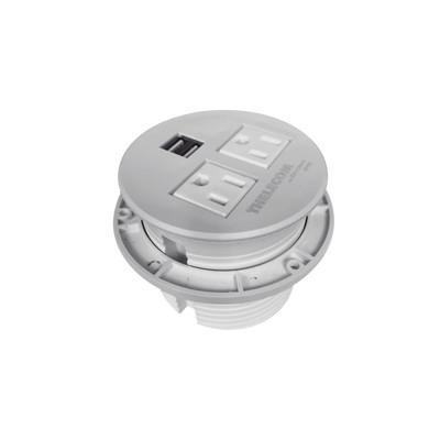 THORSMAN - TMC-E2-USB-2N - Multicontactos / USB empotrable color blanco no incluye cable de poder