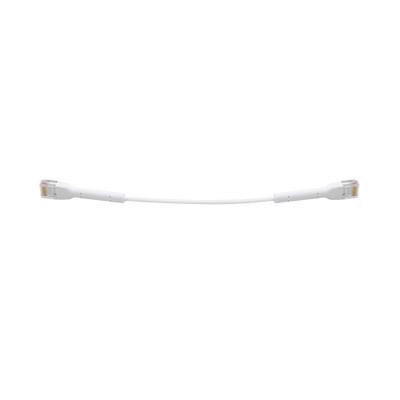 UBIQUITI NETWORKS - UC-PATCH-RJ45 - UniFi Ethernet Patch Cable Cat6 de 22 cm color blanco