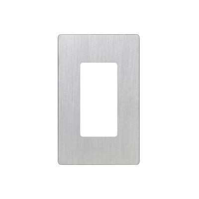 LUTRON ELECTRONICS - CW1-SS - Placa de pared 1 espacio diseño tipo metálico para atenuador (dimmer) apagador ó control remoto inalámbrico LUTRON.