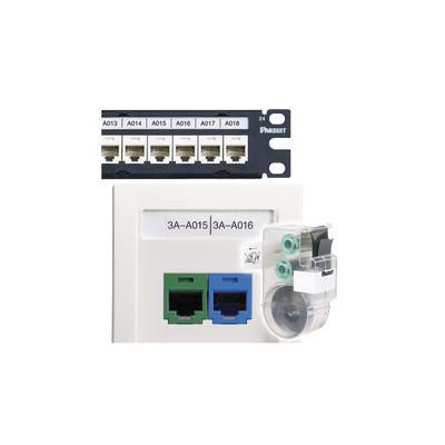 PANDUIT - C252X030FJC - Casete de 125 Etiquetas Adhesivas para Patch Panel Face Plate o Cajas Superficiales Para Identificación 4 Puertos Color Blanco