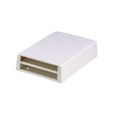 PANDUIT - CBXF12WH-AY - Caja de Montaje en Superficie Con Accesorio para Resguardo de Fibra Óptica Para 12 Módulos Mini-Com Color Blanco