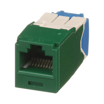 PANDUIT - CJ6X88TGGR - Conector Jack RJ45 Estilo TG Mini-Com Categoría 6A de 8 posiciones y 8 cables Color Verde