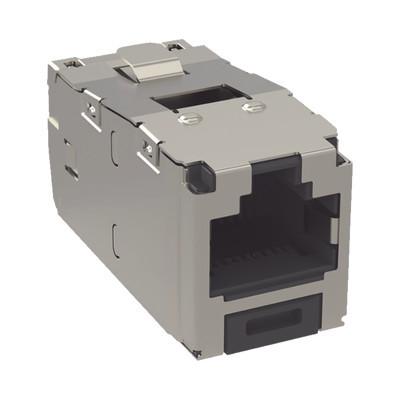 PANDUIT - CJS688TGY - Conector Jack RJ45 Blindado Estilo TG Mini-Com Categoría 6 de 8 posiciones y 8 cables Color Negro